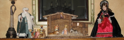Hummel Nativity Display